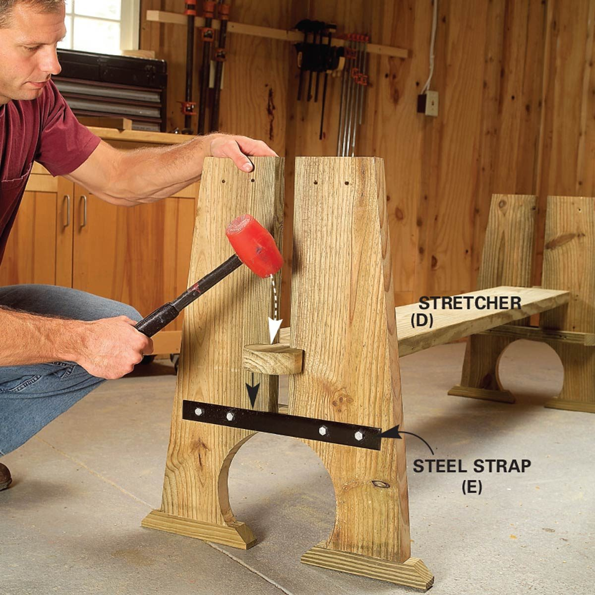 picnic table stretcher