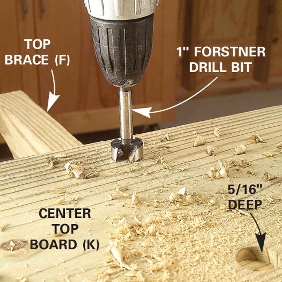 picnic table drill for lag screws