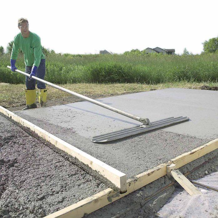 bull float concrete slab