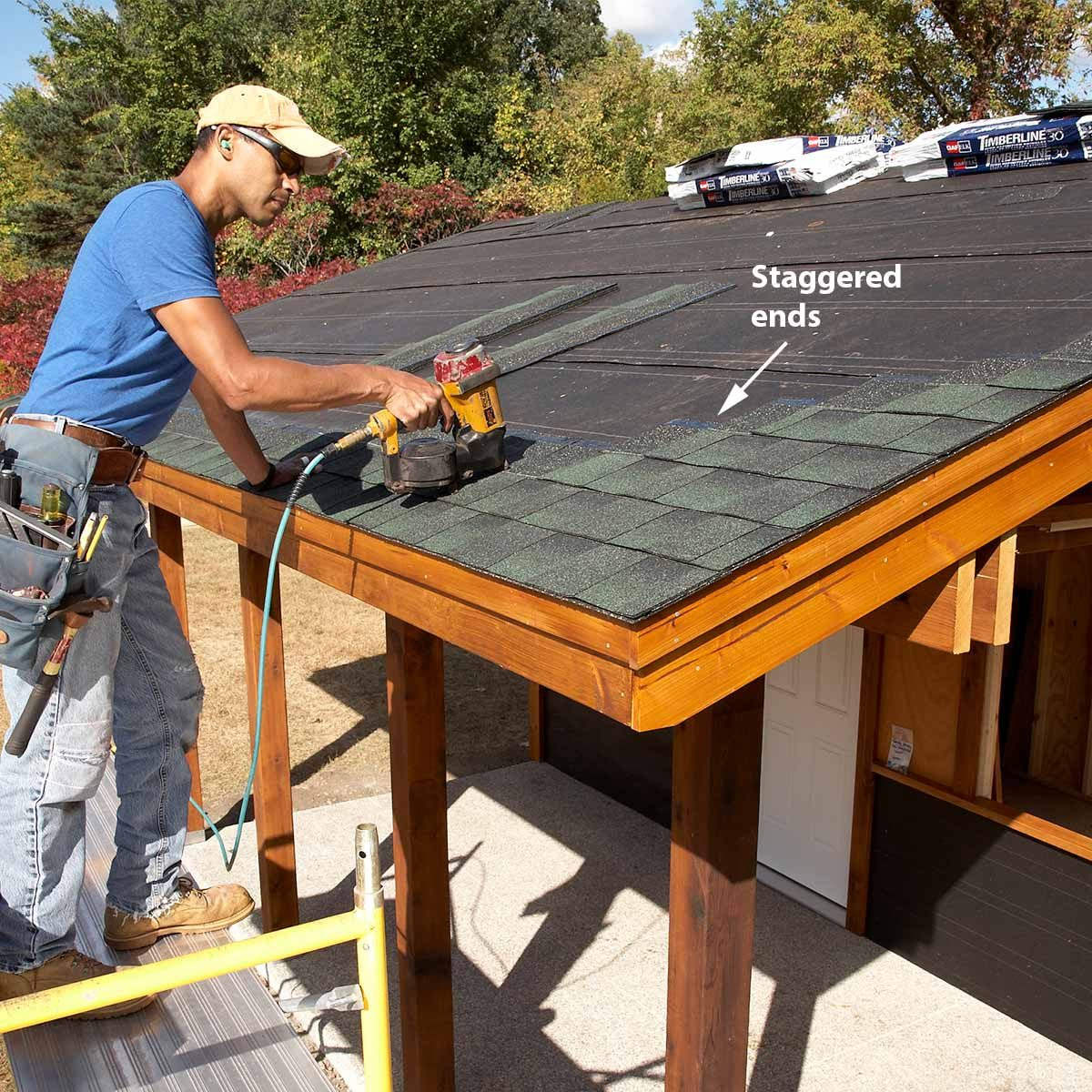 add shingles to shed roof