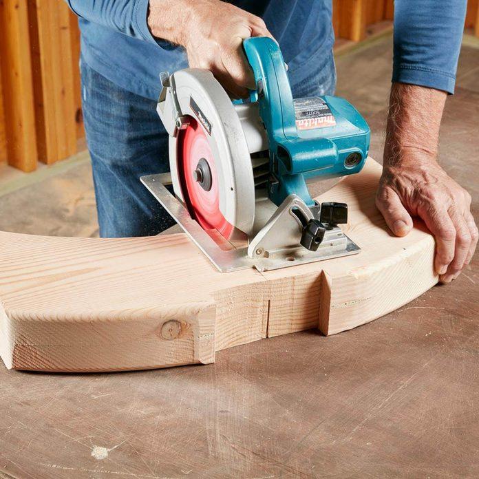 cut viking bench leg blanks in half