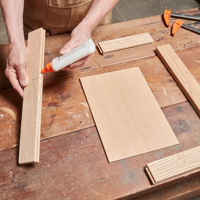 glue cabinet sides