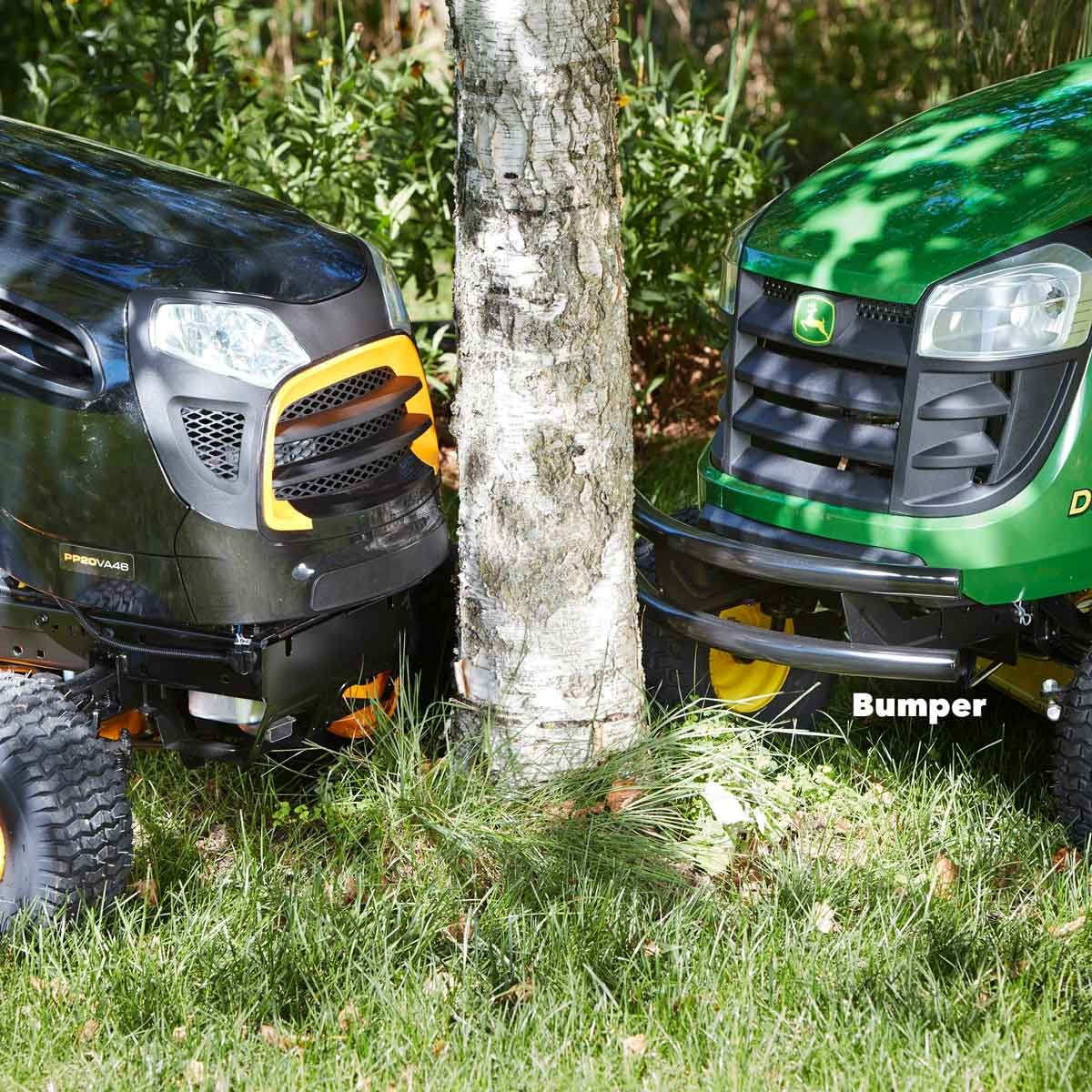 Lawn tractor bumper