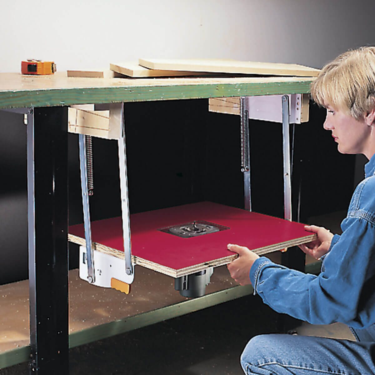 pull-out router table put away