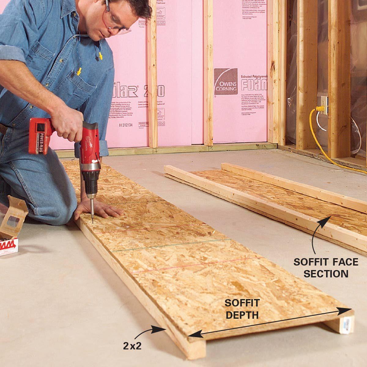 Finishing a Basement - Build Soffit Front