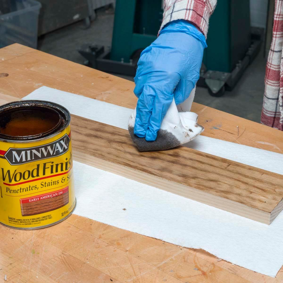 HH staining wood