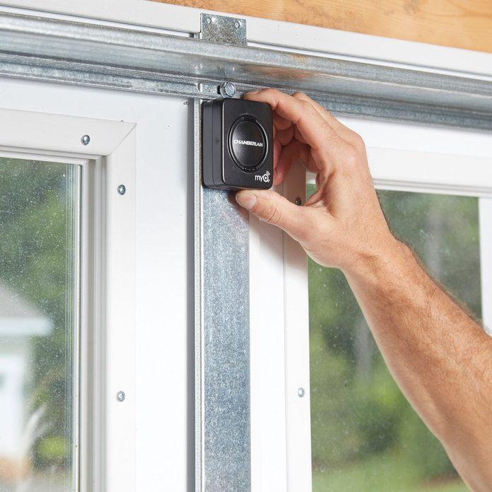 Mount the garage door sensor