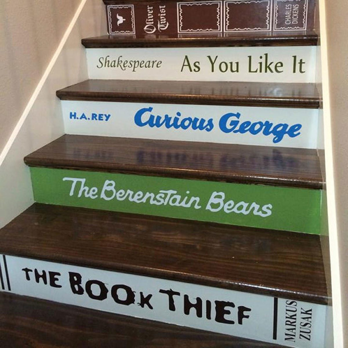 book titles stair risers