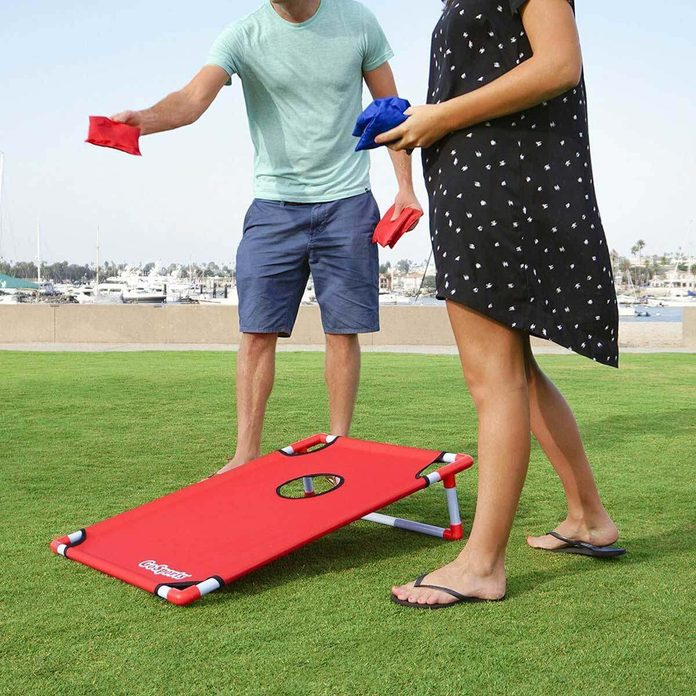 portable corn hole game