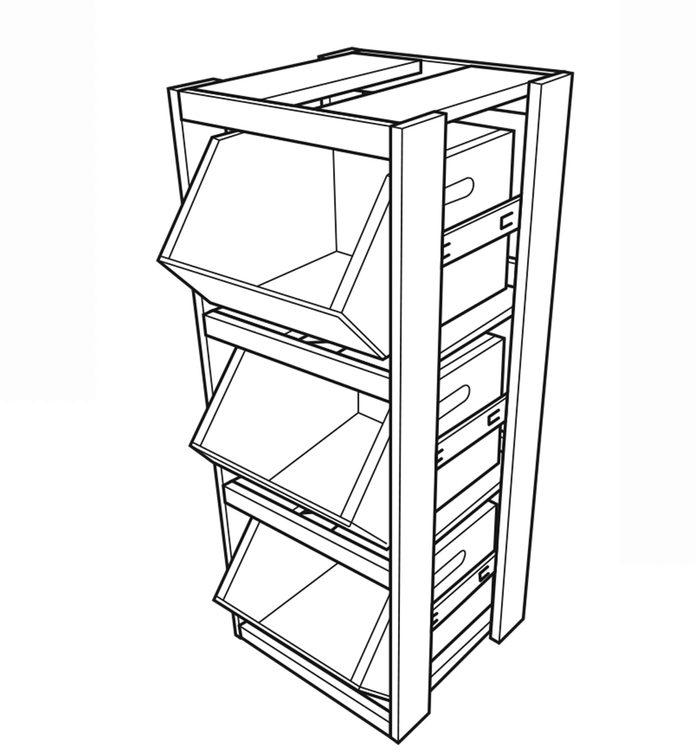 produce storage illustration