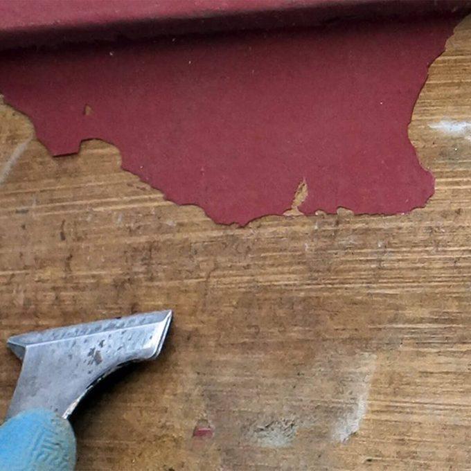 peeling paint on house