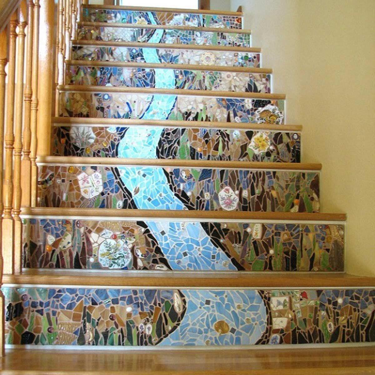 mosaic stair risers