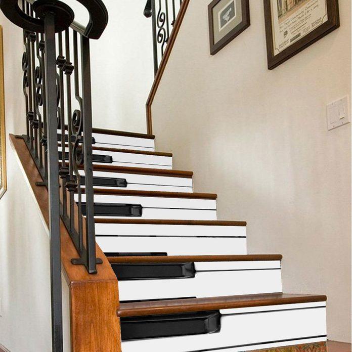 piano key stair risers