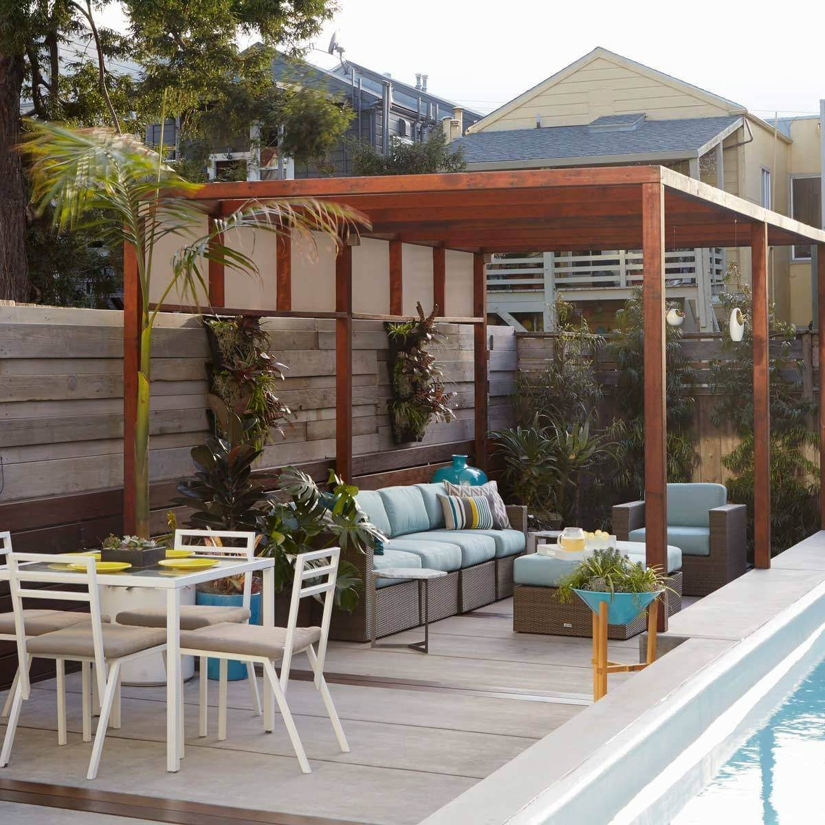 Poolside Patio with Pergola