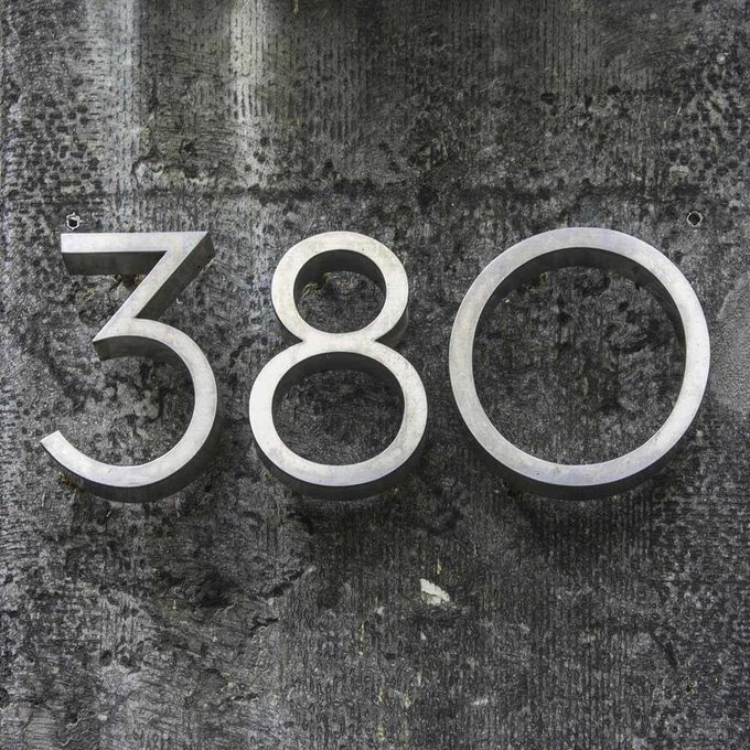 modern house numbers
