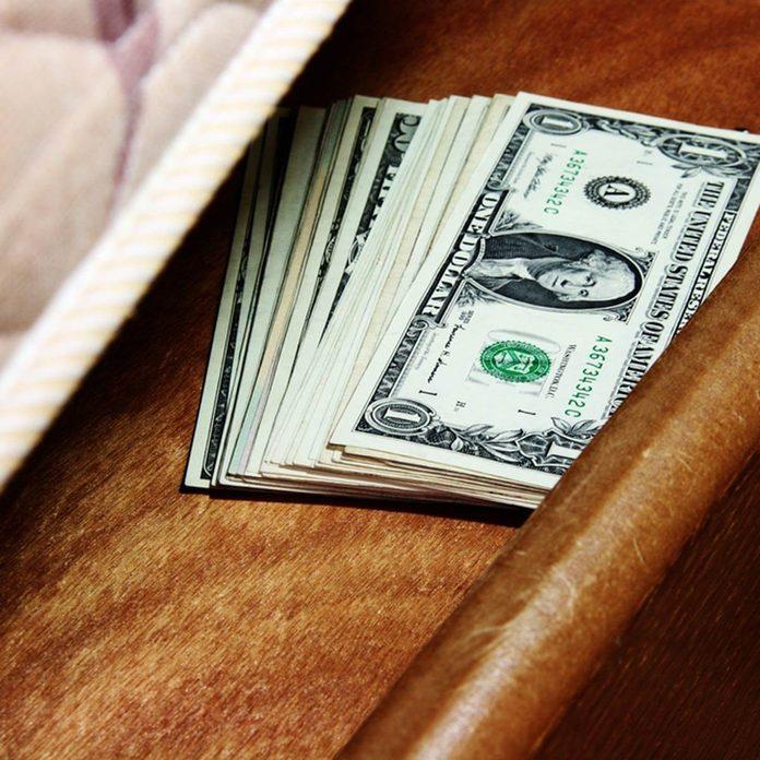 Money Under the mattress burglar hiding spot