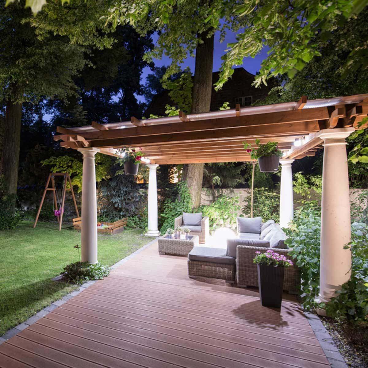 Hang Lights on a Pergola