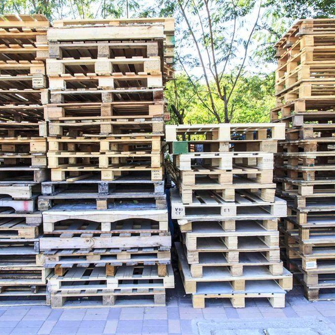 wood pallet stacks