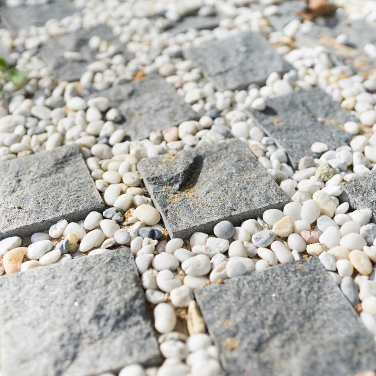 grid stone paver patio