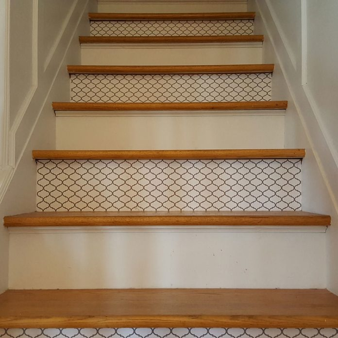 staircase contact paper design