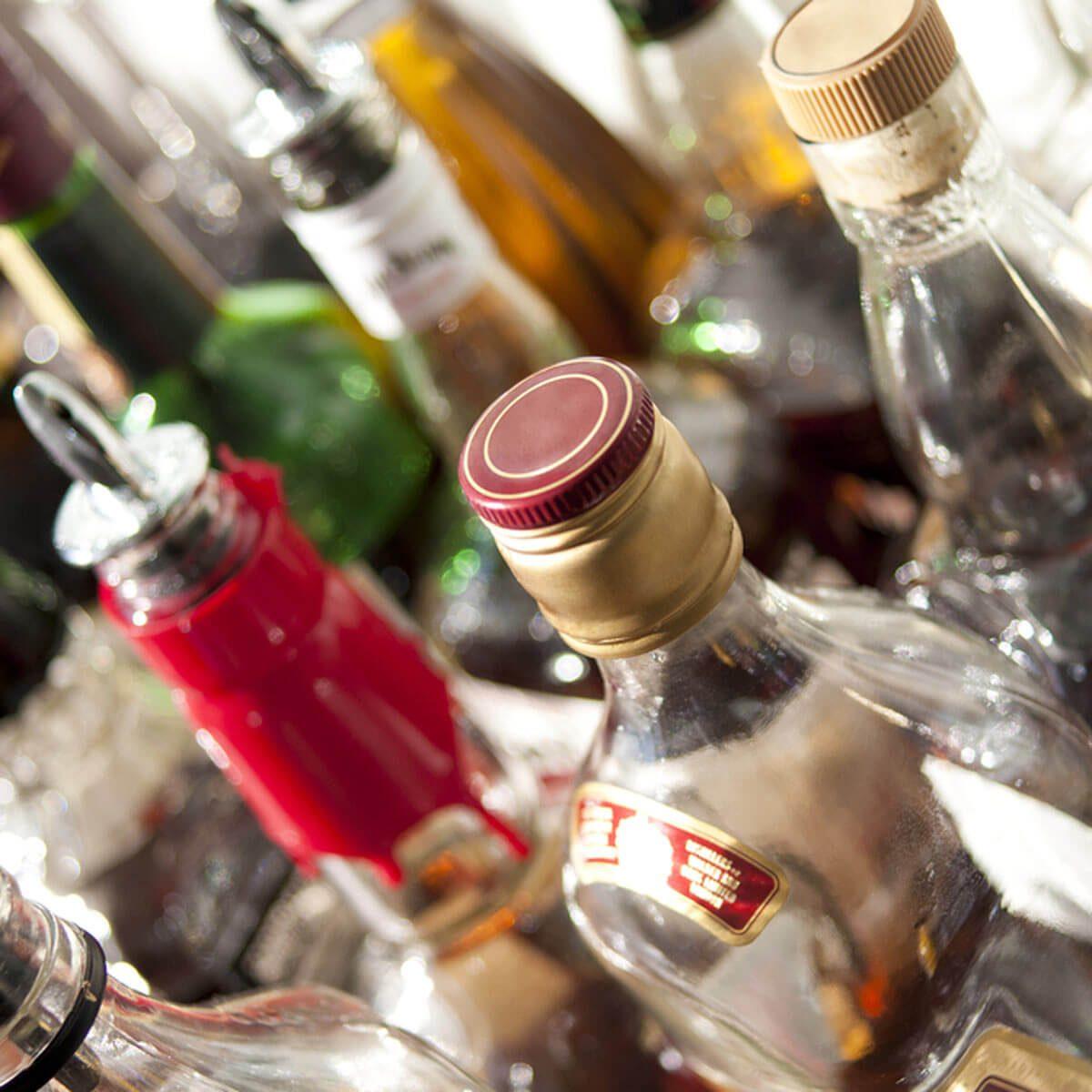 Liquor alcohol cabinet