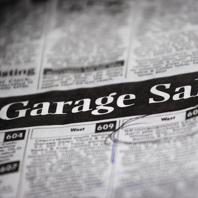 garage sale ad
