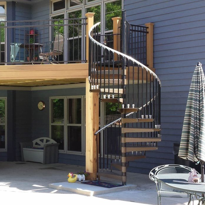 Deck with Spiral Staircase