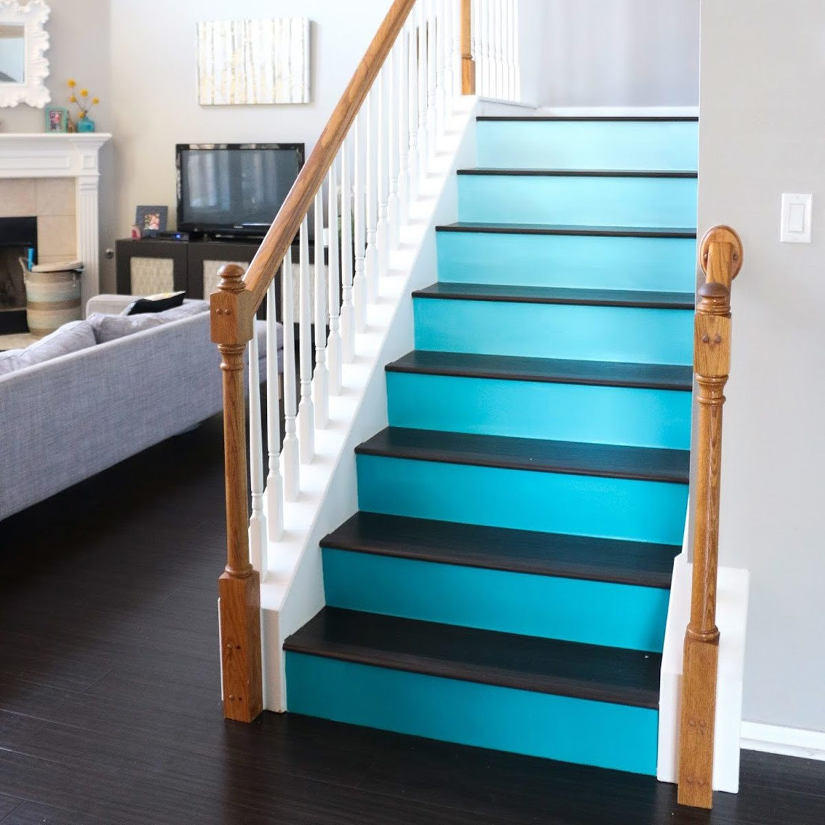 ombre stair risers