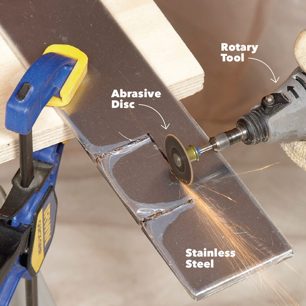 cut stainless steel with a grinding disk
