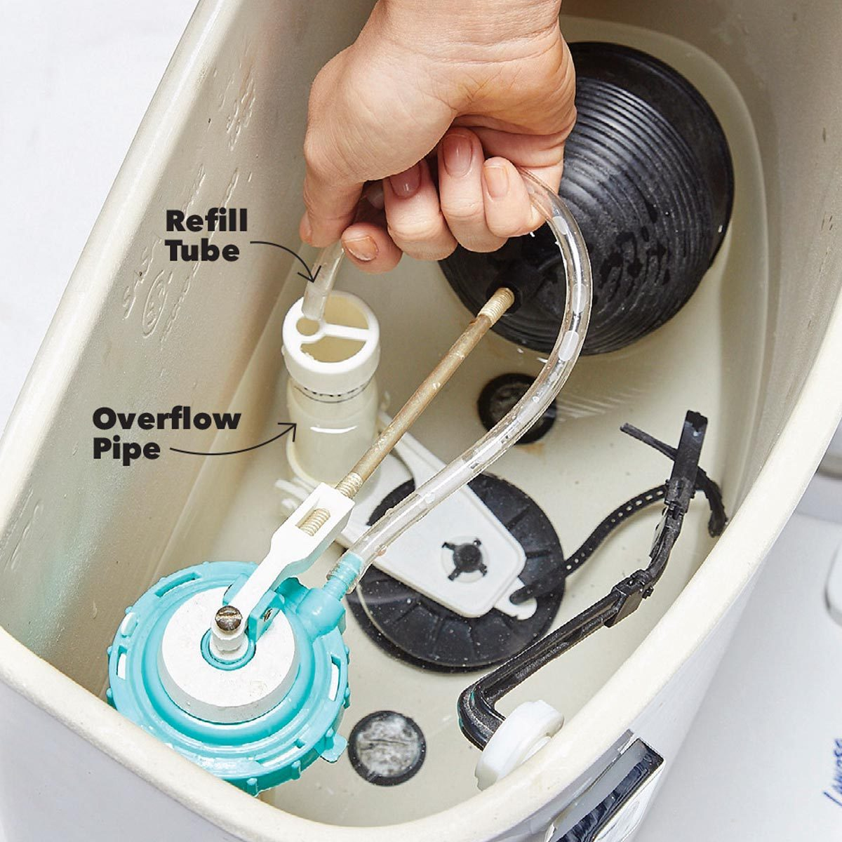 refill tube toilet