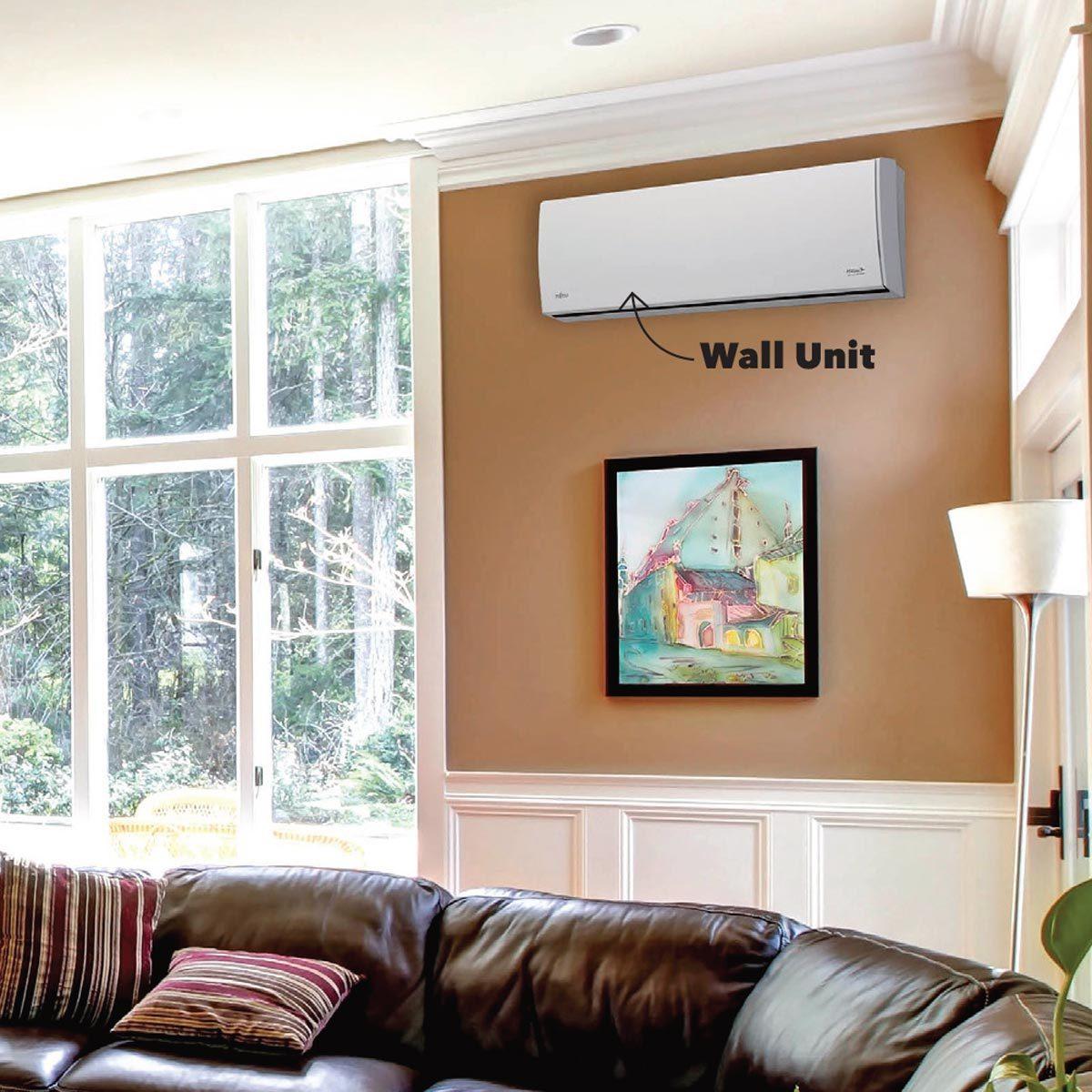 mini-split living room wall unit