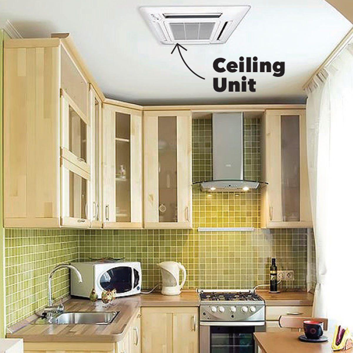 ceiling mini-split unit kitchen