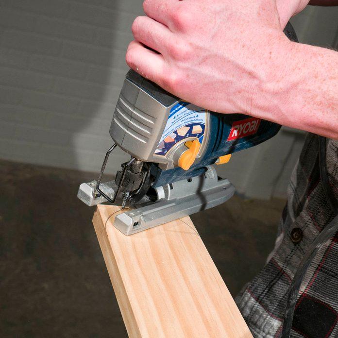 Stowable Dog Ramp Cut Arcs With Jigsaw