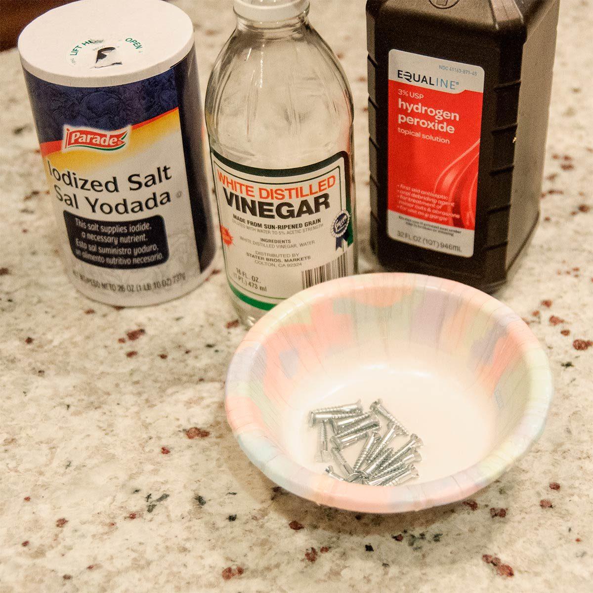 hydrogen peroxide salt vinegar