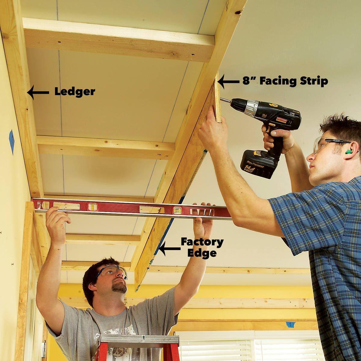 Facing plywood soffit lighting