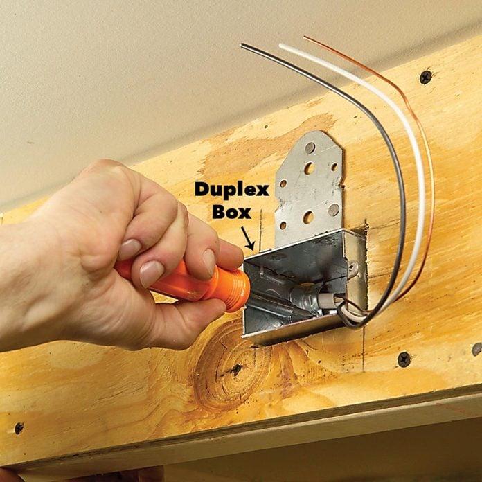 mounting duplex box