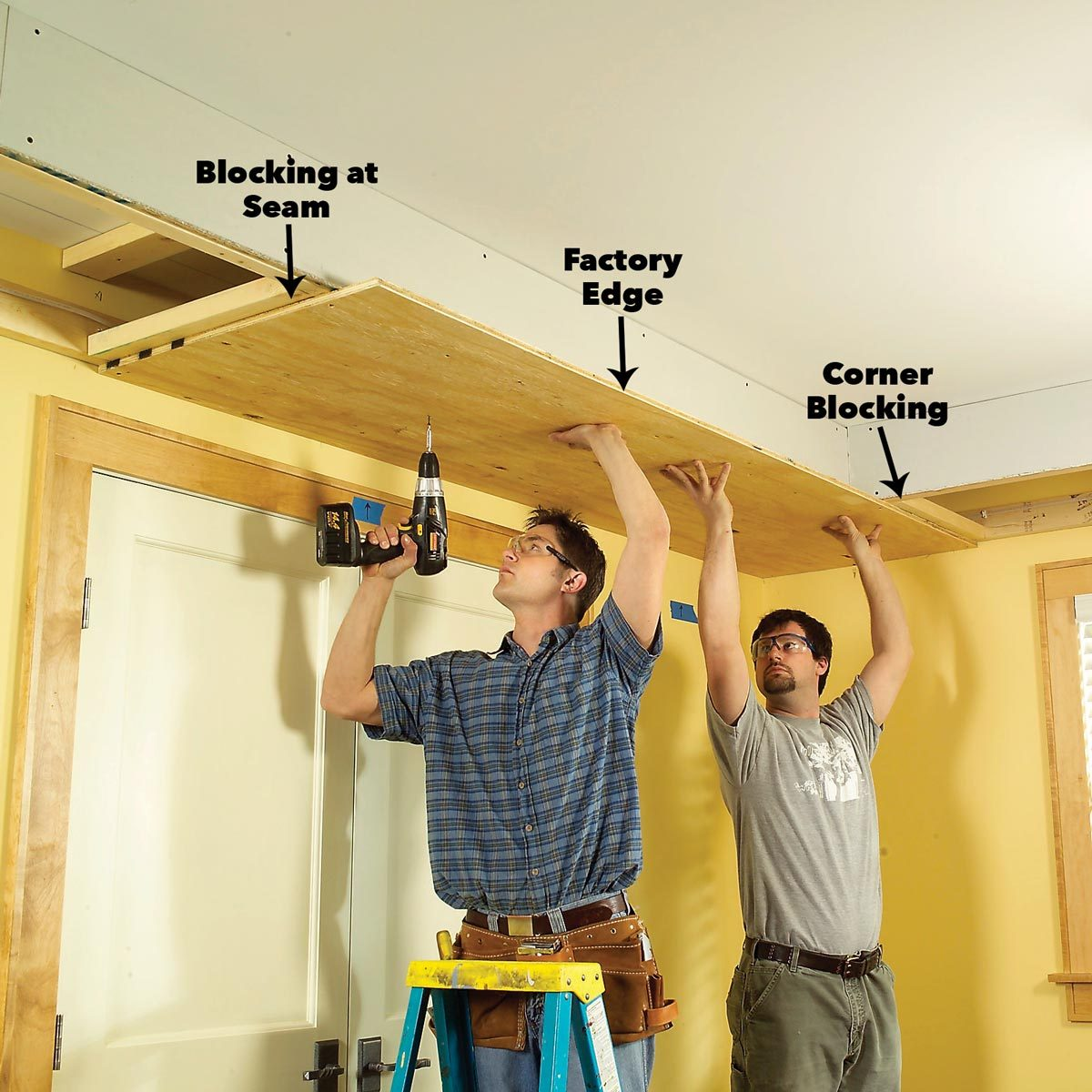 add the plywood soffit box