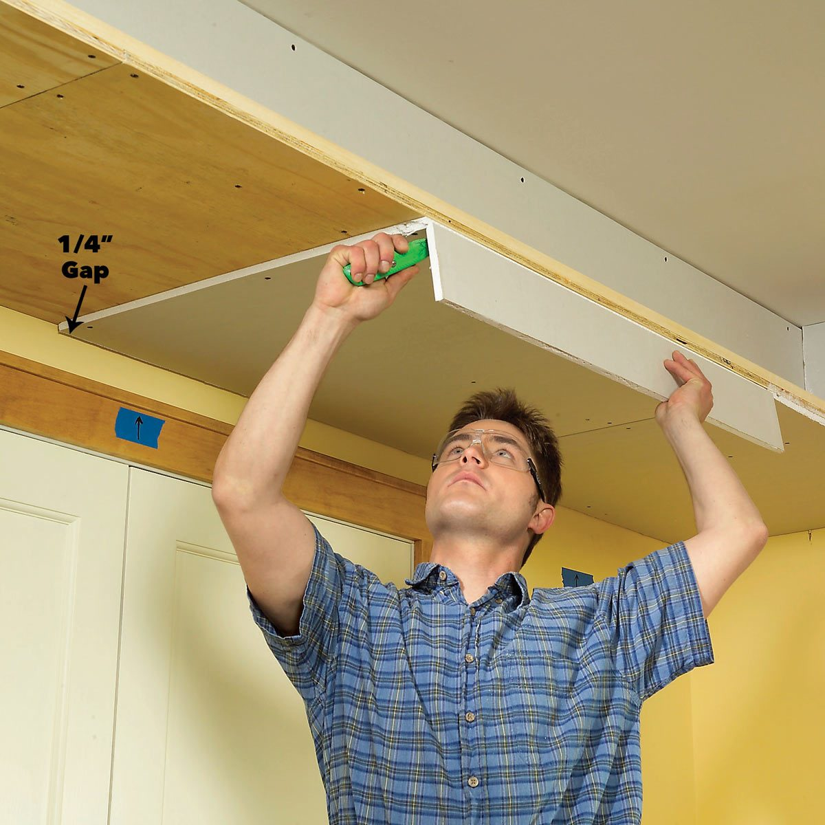 drywall underside of soffit box