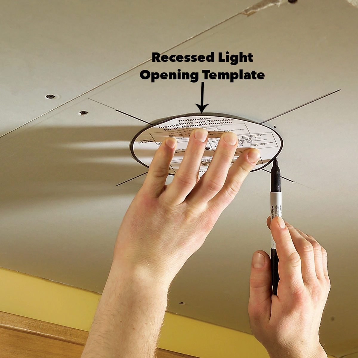 Cut out soffit light openings