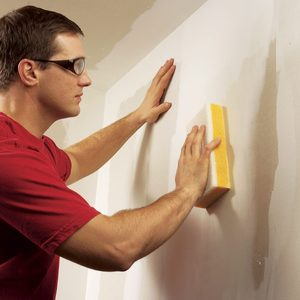 Wet Sanding Drywall