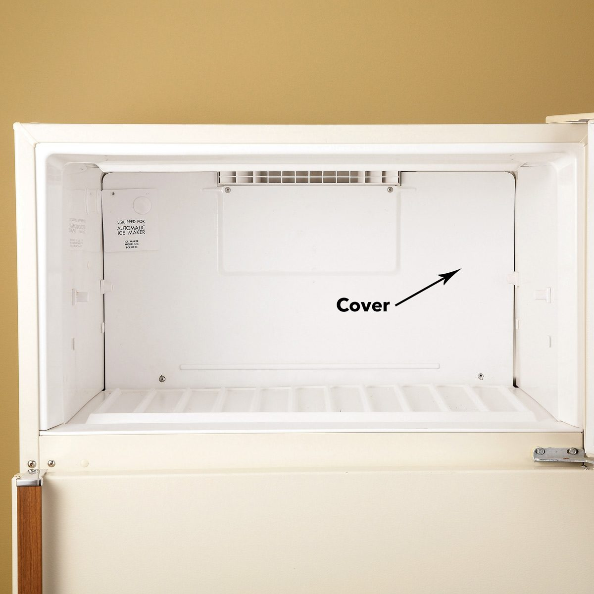 remove refrigerator cover