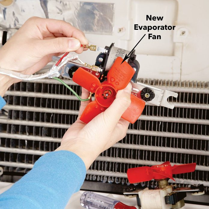 replace and install freezer fridge condenser fan