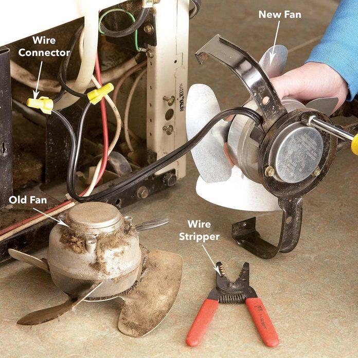 install new refrigerator condenser fan