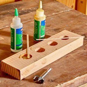 wood scraps epoxy mixing hack