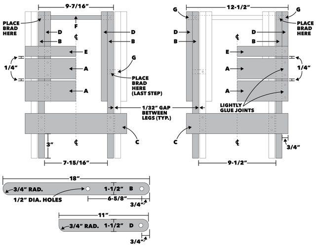 Folding Stool Tech Art