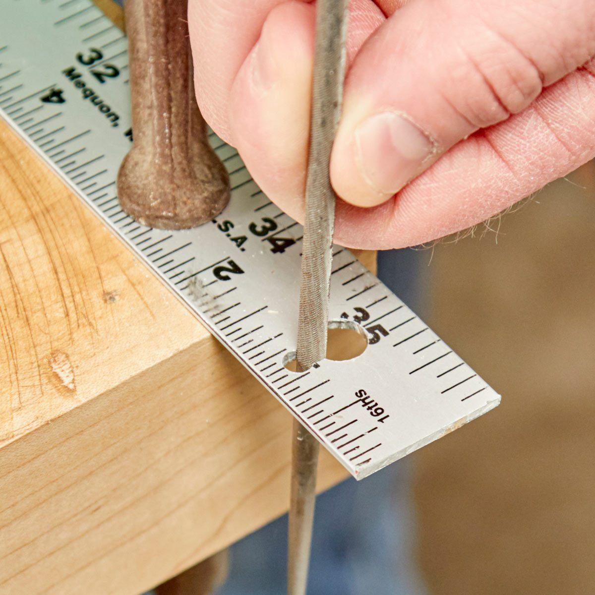 HH sanding keyhole ruler