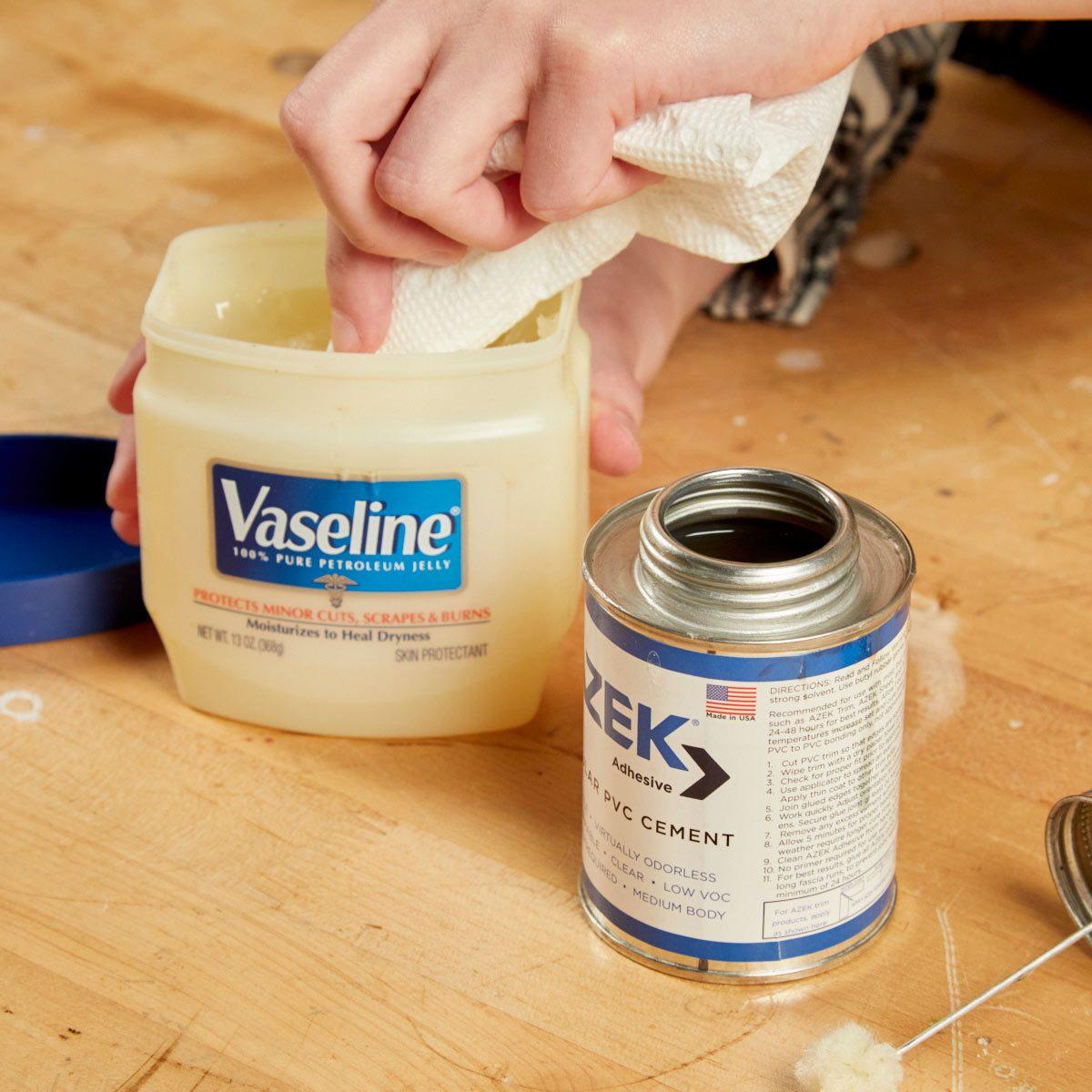 HH vaseline rubber cement glue caps lids
