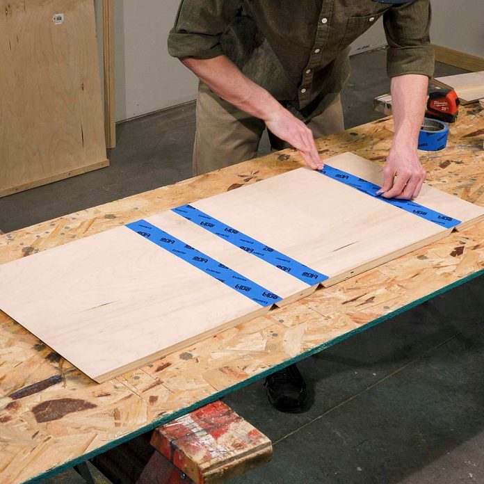 Modern Headboard Tap and Glue Mitered Angles