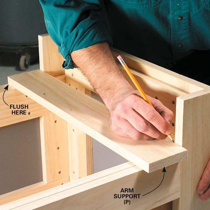 outside storage bench step 5