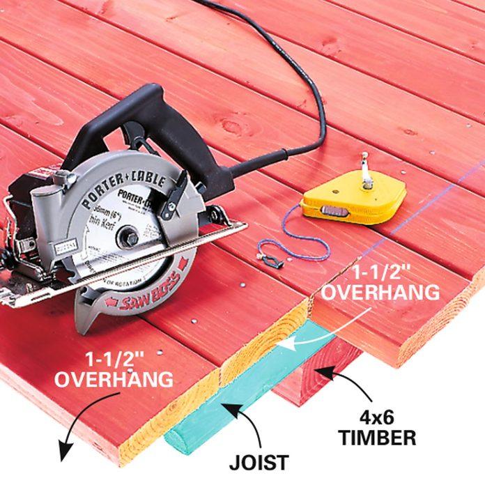 simple deck cross cut